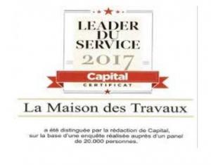 La Maison Des Travaux élue comme leader du service en 2017 à Vertou