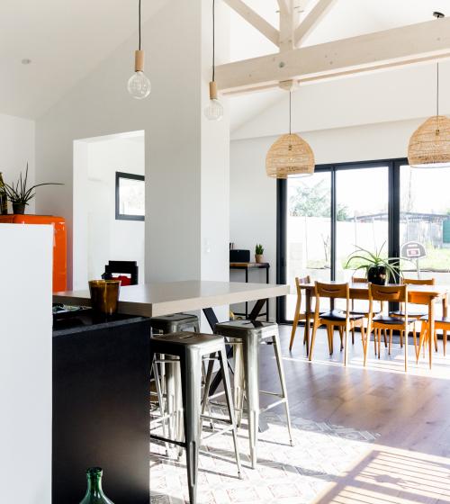 Cuisine - Rénovation de maison à la Haye Fouassière (44)
