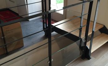Création escalier avec garde corps