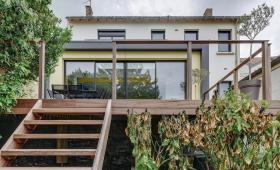 Extension extérieur - Extension en ossature bois À Vertou (44)