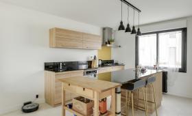 Cuisine équipée - Rénovation complète d'une maison de 130m² à Vertou
