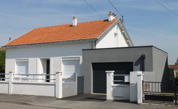 Construction d'une extension pour un garage à Bouguenais (44)