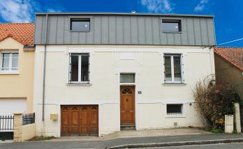 Surélévation de la maison en bardage zinc à Nantes (44)